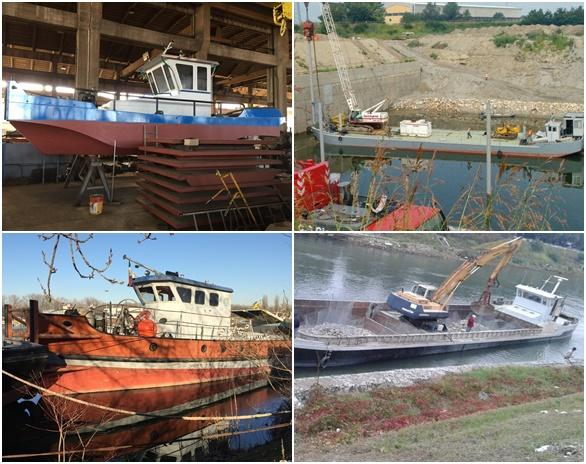 Tugboats, dredgers, barges, motorboats