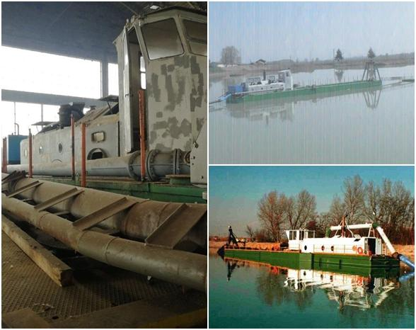 Cutter suction and waterjet dredger
