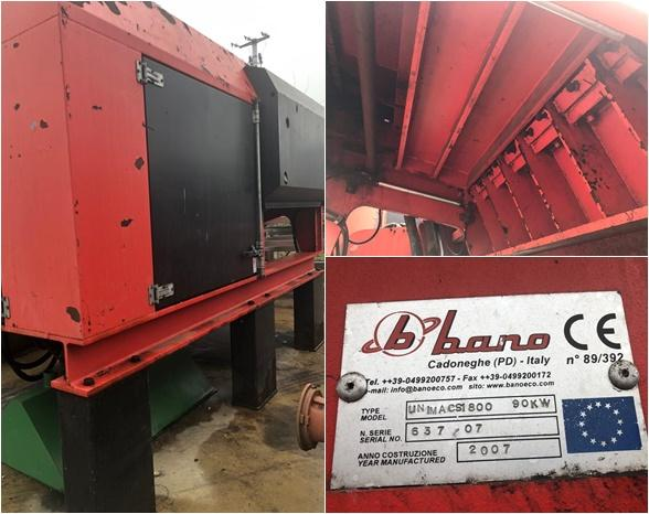 Shredders for metal scrap